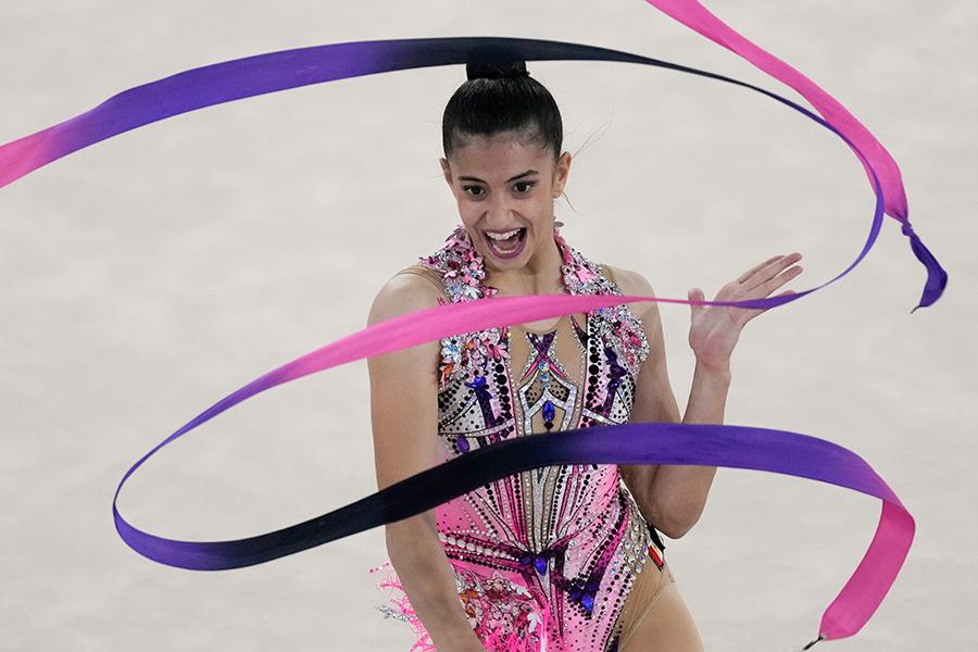 東京五輪・新体操のエジプト代表ハビバ・マルズーク【写真:AP】