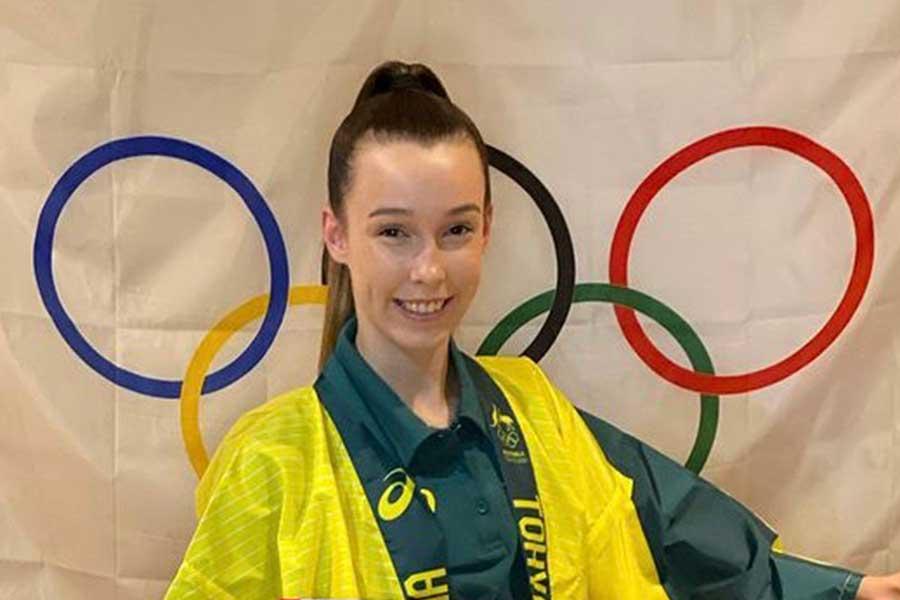 新体操のオーストラリア代表フェリシティ・ホワイト【写真:インスタグラム(@flick_white)より】