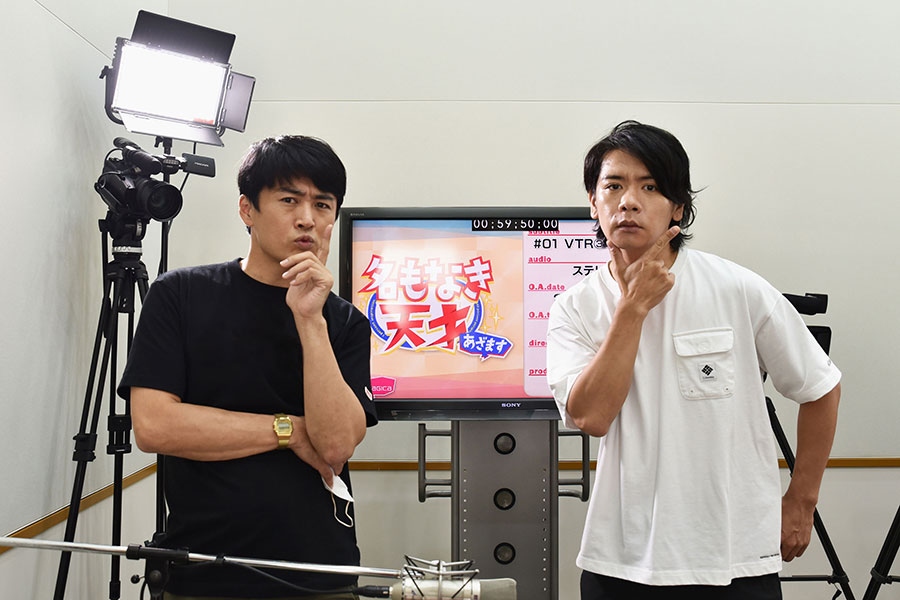 初タッグを組んだ劇団ひとり(左)と野田クリスタル【写真:(C)フジテレビ】