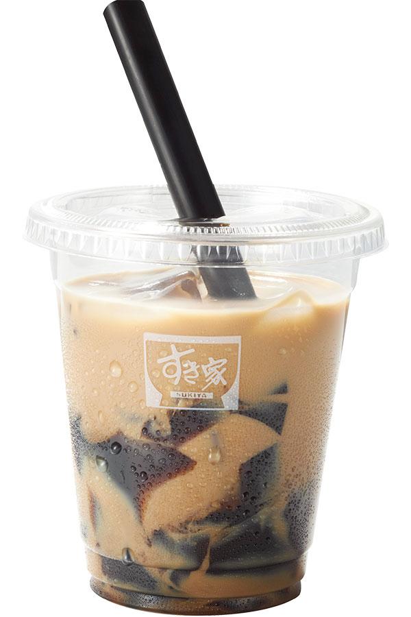 すき家の新商品「黒糖ゼリーミルクティー」