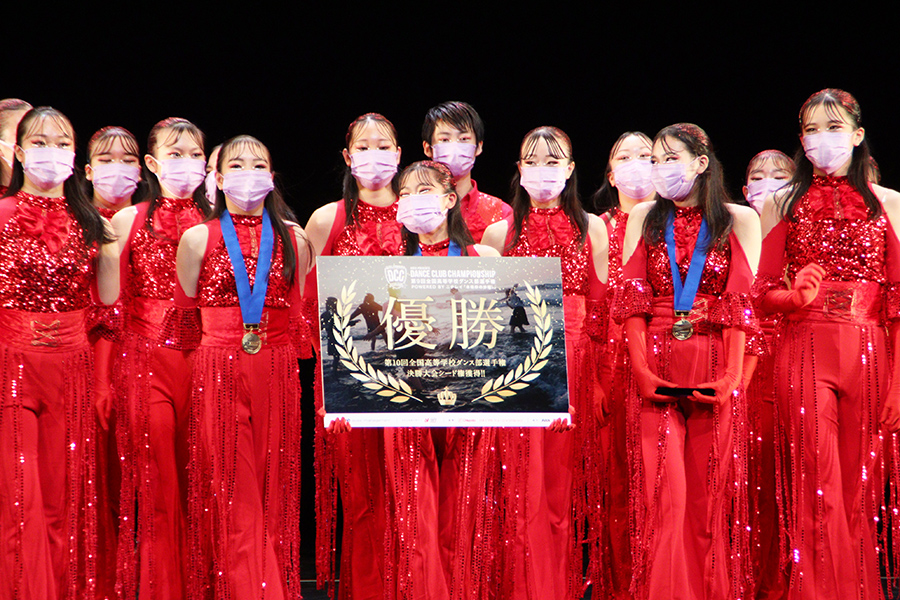全国高等学校ダンス部選手権優勝の山村国際高等学校【写真:ENCOUNT編集部】