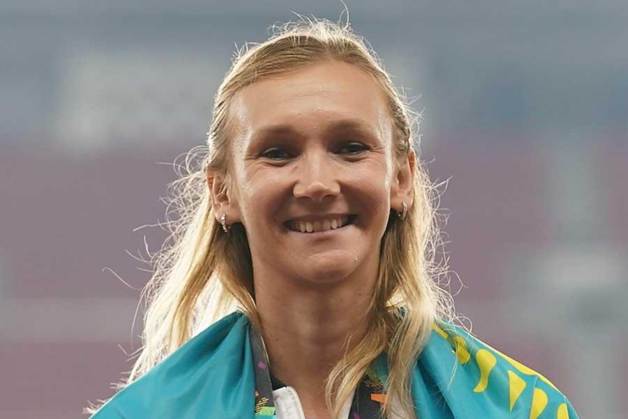陸上女子三段跳びのカザフスタン代表オリガ・ルイパコワ【写真:Getty Images】