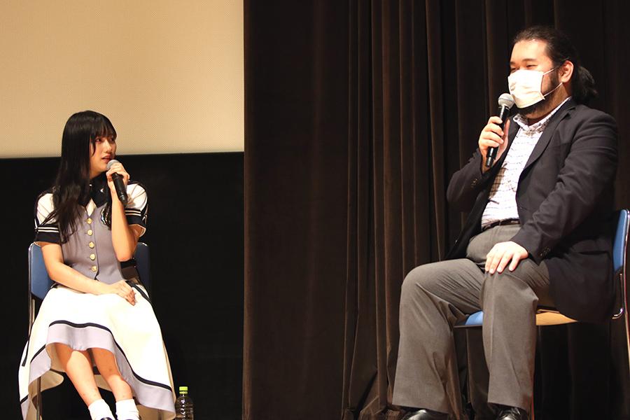今年の星雲賞を受賞した柴田勝家氏(右)が脚本を担当【写真:小田智史】