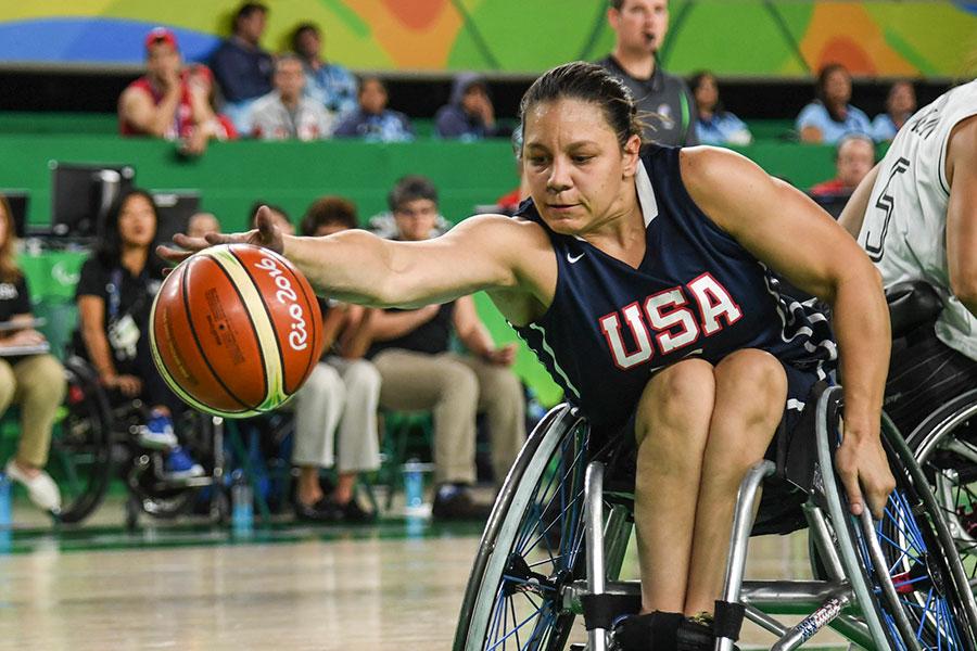車いすバスケットボールの米国代表ダーリーン・ハンター【写真:Getty Images】