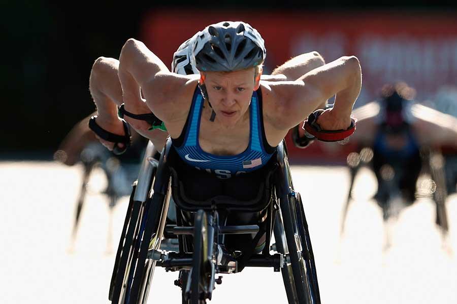東京パラリンピック・女子陸上のアメリカ代表スザンナ・スカロニ【写真:Getty Images】