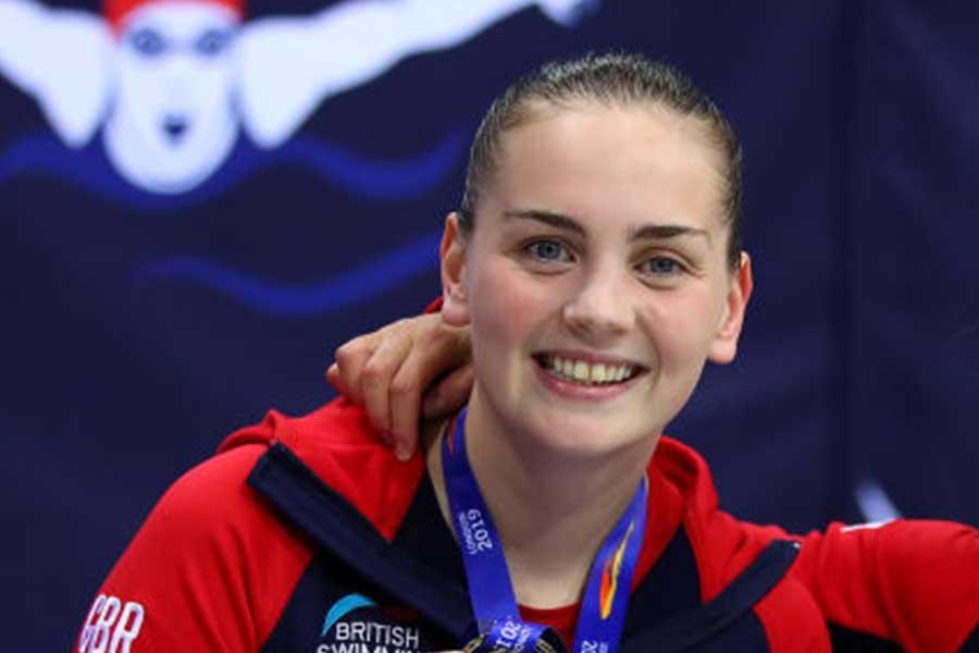 競泳女子の英国代表タリー・カーニー【写真:Getty Images】