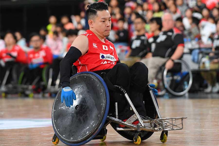車いすラグビー日本代表の若山英史【写真:Getty Images】