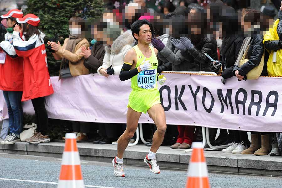 フルマラソンを力強く走る【写真提供:後口洋史さん】