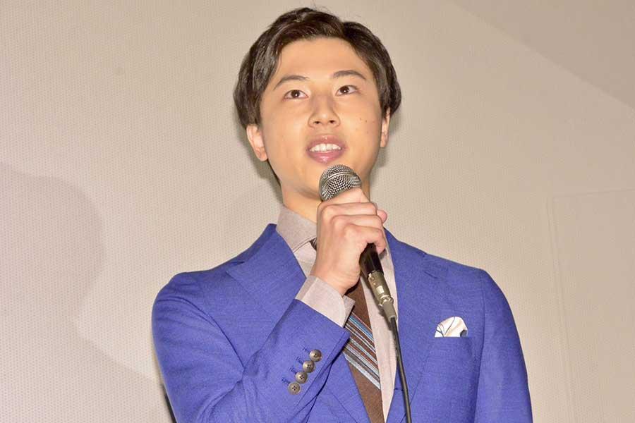 青木涼が主演映画「夢判断、そして恐怖体験へ」初日舞台あいさつに登壇【写真:ENCOUNT編集部】