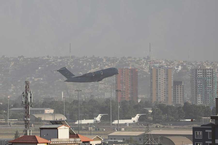 アフガニスタンのカブール空港【写真:Getty Images】