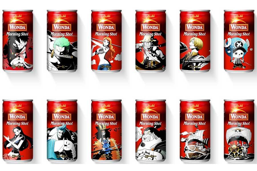 「ワンダ」缶コーヒー各種で「ONE PIECE」デザイン缶が発売