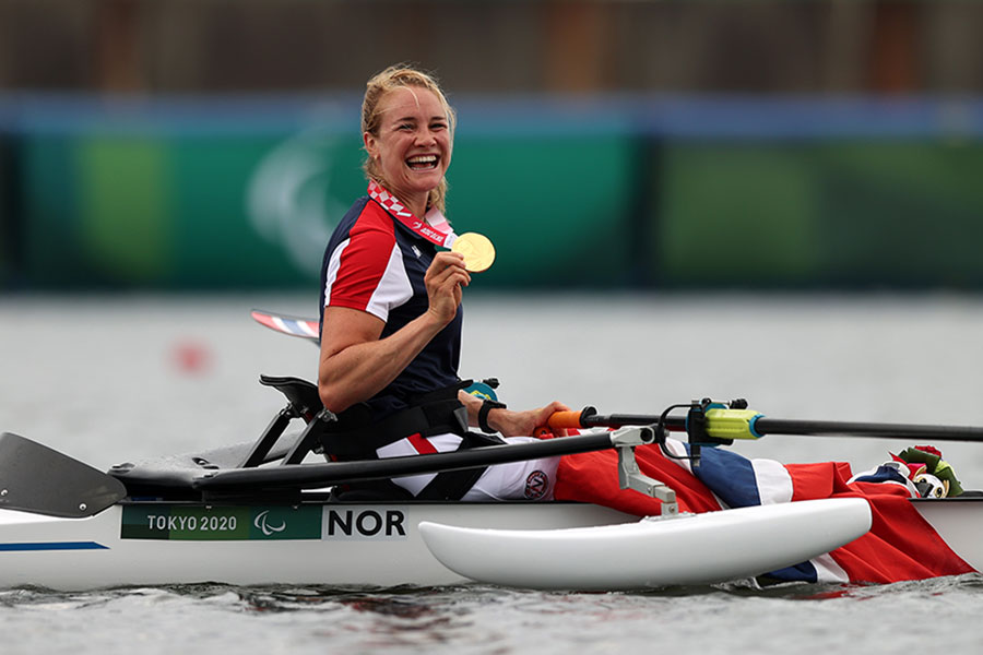 金メダルを獲得したノルウェー代表のビルイト・スカシュテイン【写真:Getty Images】