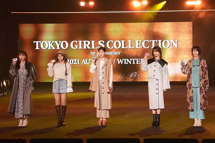 櫻坂46の5人がステージに登場【写真:荒川祐史】