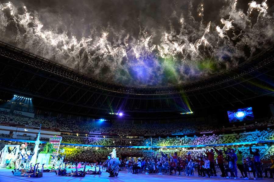 パラリンピックの閉会式が開催された国立競技場【写真:AP】