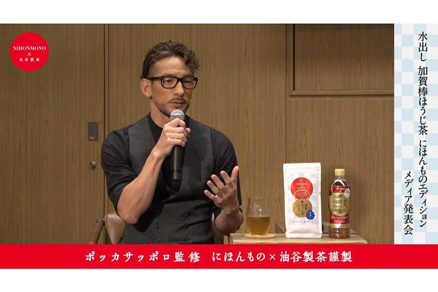 発表記者会見に出席した元サッカー日本代表の中田英寿