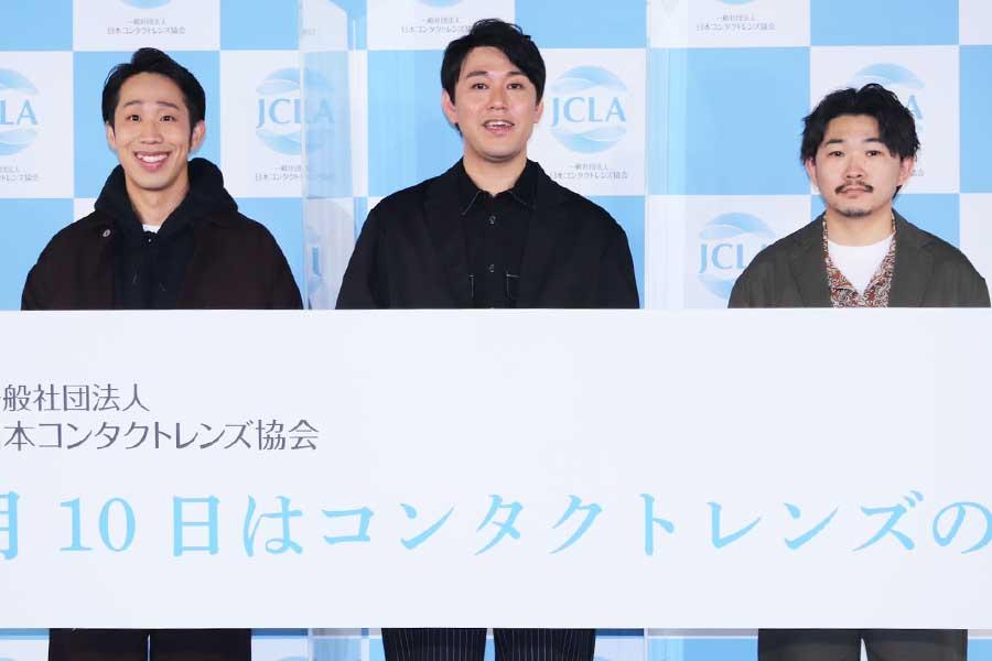 左からひょっこりはん、オズワルドの畠中悠、伊藤俊介【写真:ENCOUNT編集部】