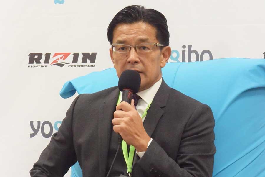 三浦孝太について言及したRIZINの榊原信行CEO【写真:ENCOUNT編集部】