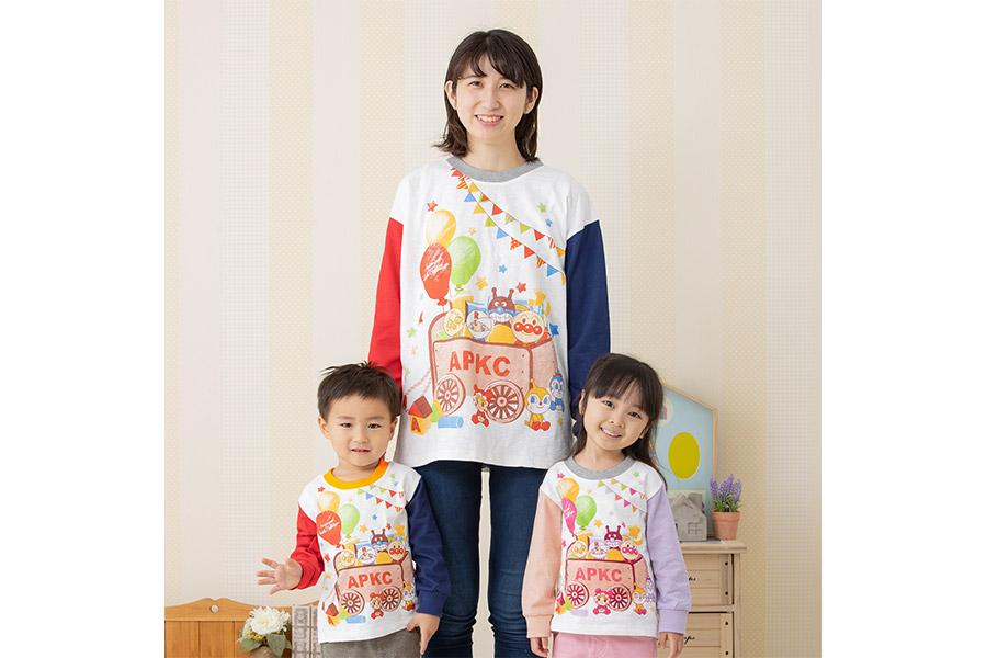マスコット柄長袖Tシャツが発売【写真:(C)やなせたかし/フレーベル館・TMS・NTV】