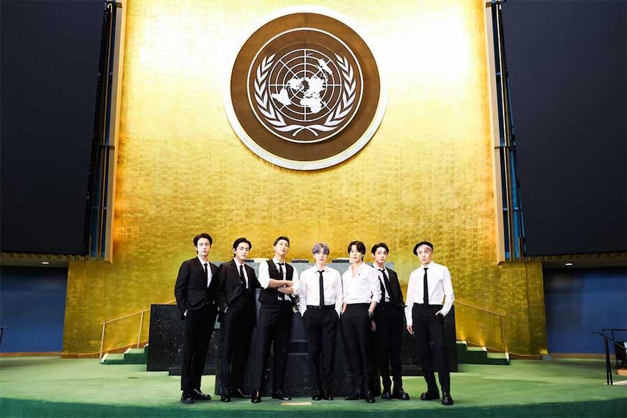 国連総会に出席したBTS【写真:(C)BIGHIT MUSIC】