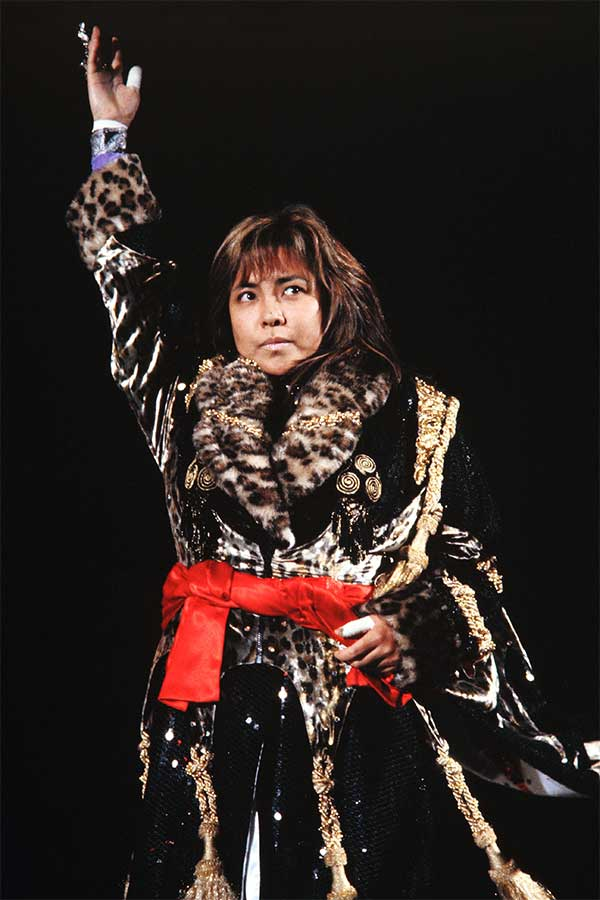 リング上の実力は折り紙付きだった風間ルミさん(1998年4月撮影)【写真:平工幸雄】