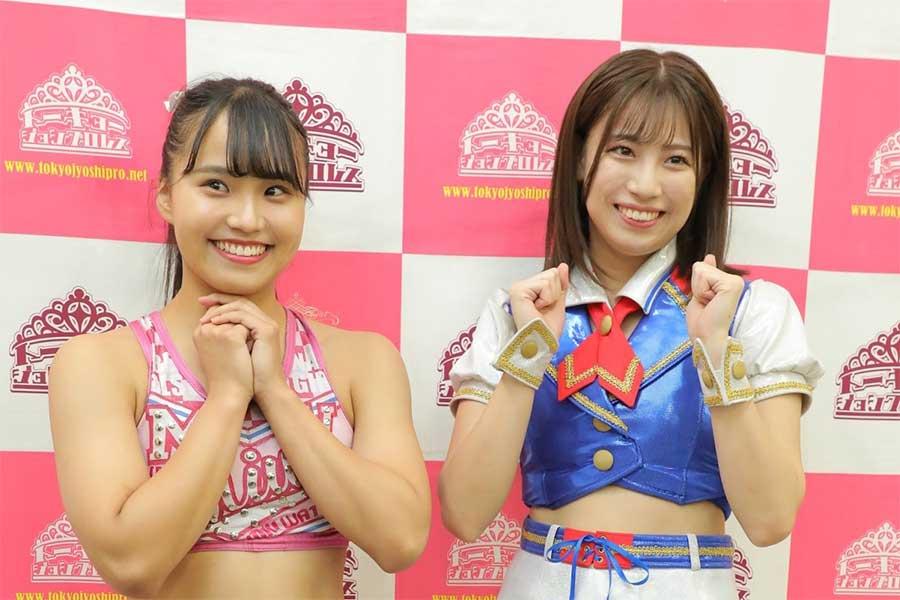 SKE48荒井優希(右)とタッグで新風を巻き起こす渡辺未詩【写真:(C)東京女子プロレス】
