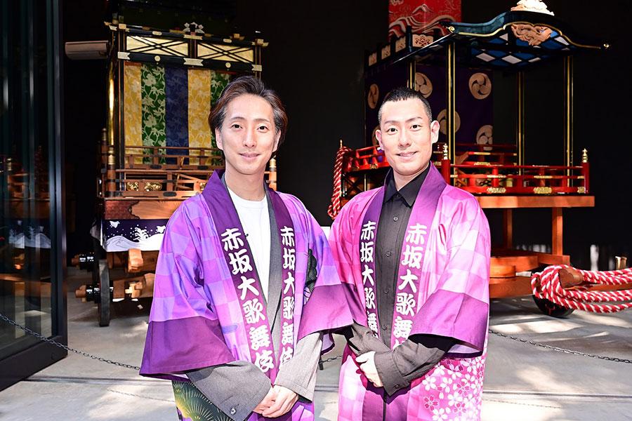 「赤坂大歌舞伎」を開催する中村七之助(左)と中村勘九郎