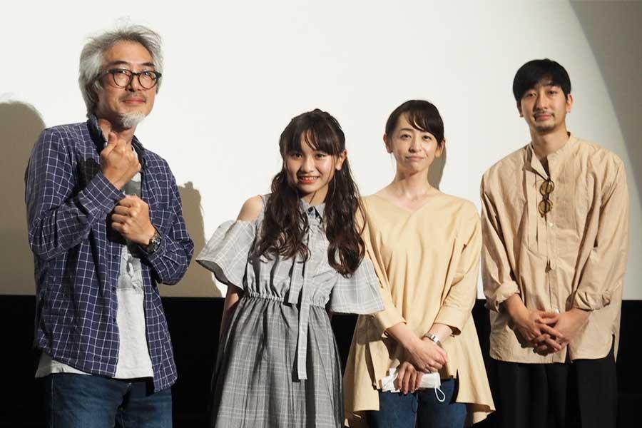 いまおかしんじ監督、櫻井佑音、荻野友里、小林竜樹(左から)【写真:ENCOUNT編集部】
