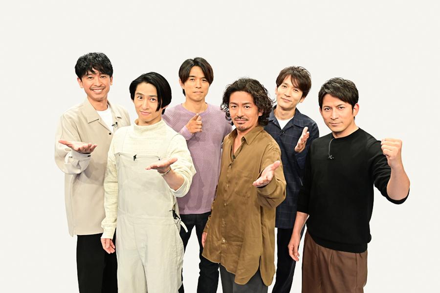 「学校へ行こう!2021」MCのV6【写真:(C)TBS】