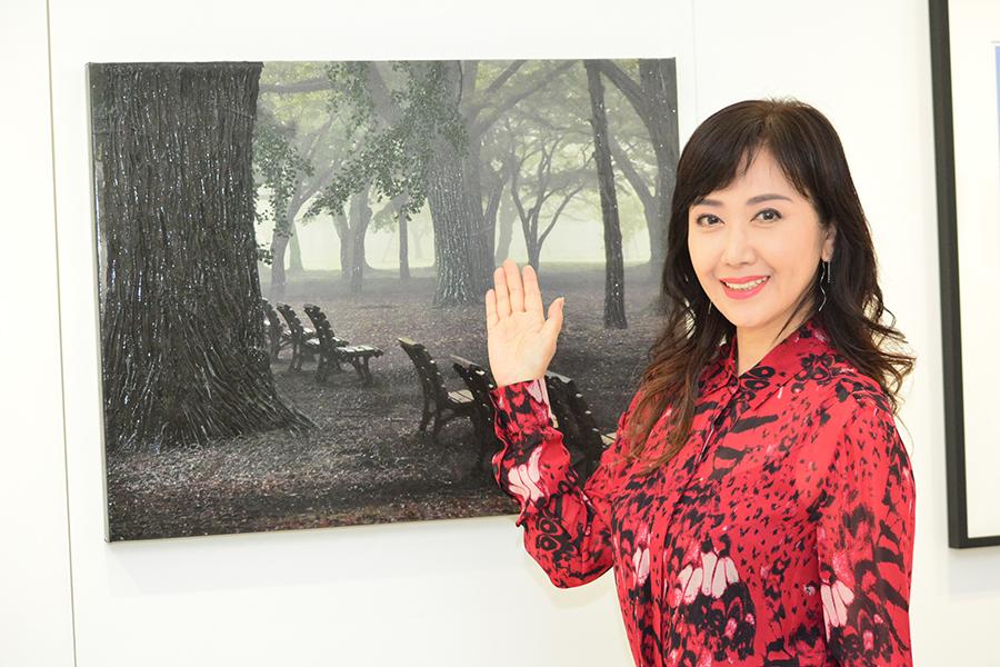 伍代夏子が個展を開催した【写真:ENCOUNT編集部】