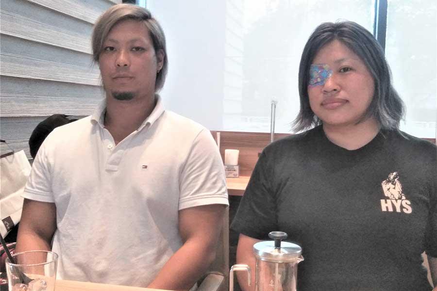 BURSTを支える鶴有紀代表(右)とエースの岩崎永遠【写真:柴田惣一】