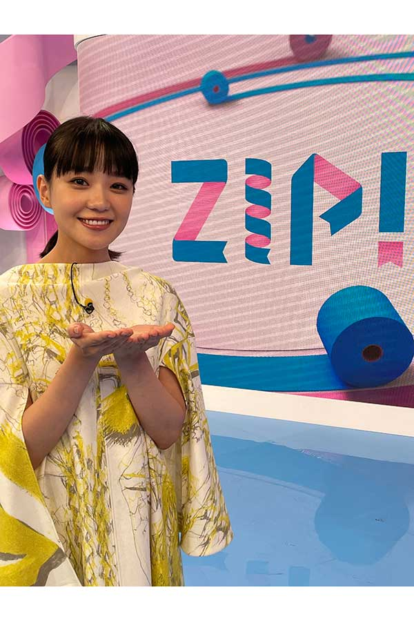 「ZIP!」の10月度金曜日パーソナリティーを務める奈緒【写真:(C)日本テレビ】