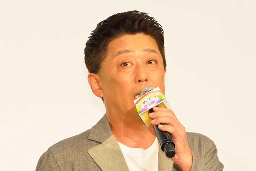 「リクはよわくない」公開記念舞台あいさつに登壇した坂上忍【写真:ENCOUNT編集部】