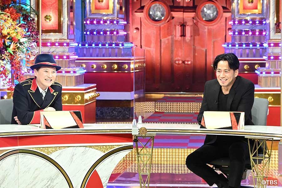 2人きりで対談を行ったMCの中居正広(左)と EXILE HIRO【写真:(C)TBS】