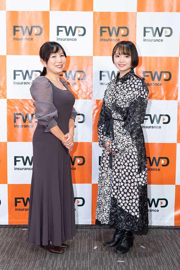 岩岡ひとみ氏(左)とトークセッションを行った矢方美紀