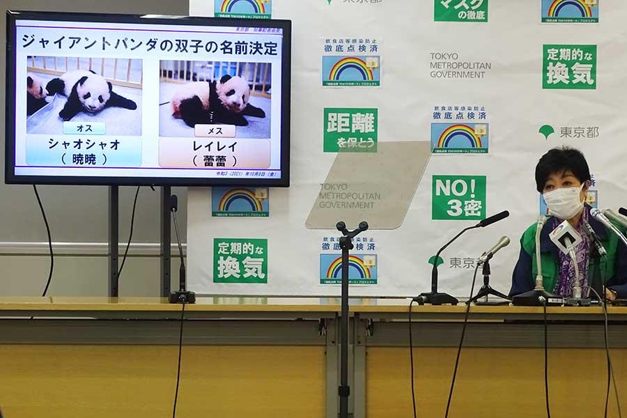名前を発表した小池百合子東京都知事【写真:ENCOUNT編集部】